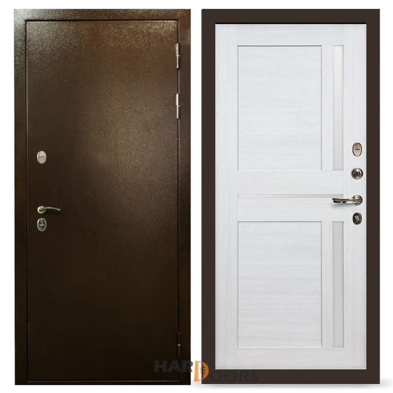 Входные двери Лекс Термо Сибирь 3К Баджио Дуб беленый (панель №47)