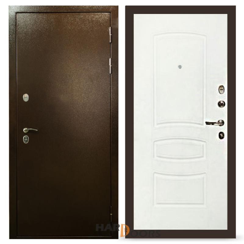 Входные двери Лекс Термо Сибирь 3К Белая шагрень (панель №68)