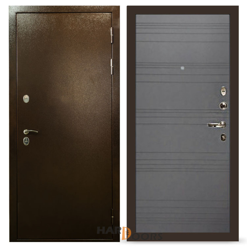 Входные двери Лекс Термо Сибирь 3К Графит софт (панель №70)