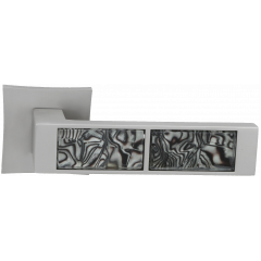 "Дверная ручка на розетке ORO&ORO ""921-13"", никель супер матовый"