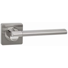 """Дверная ручка на розетке TIXX """"Андреа"""", DH 224-05, никель матовый / никель блестящий"""