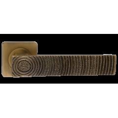 """Дверная ручка на розетке РЕНЦ """"Madera - Вековое дерево"""", DH 651-02, кофе"""