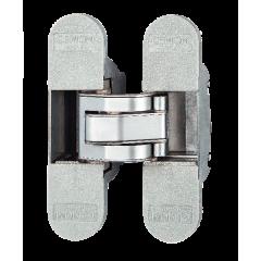 Петля скрытая 3D CEMOM Estetic 80 / A, хром матовый. Нагрузка 80 кг на две петли.