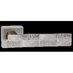 """Дверная ручка на розетке РЕНЦ """"Tortuga - Морская черепаха"""", DH 655-02, никель матовый"""